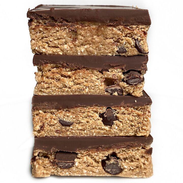 healthy no bake cookie dough bars