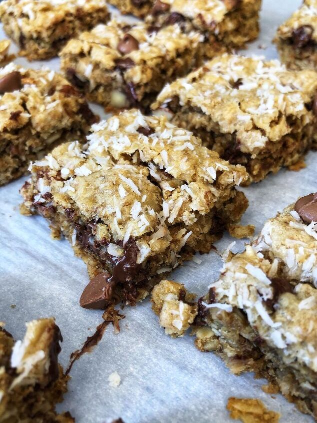 coconut chocolate oatmeal squares
