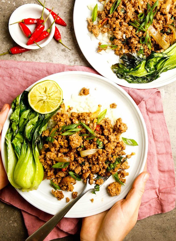 spicy thai basil pork