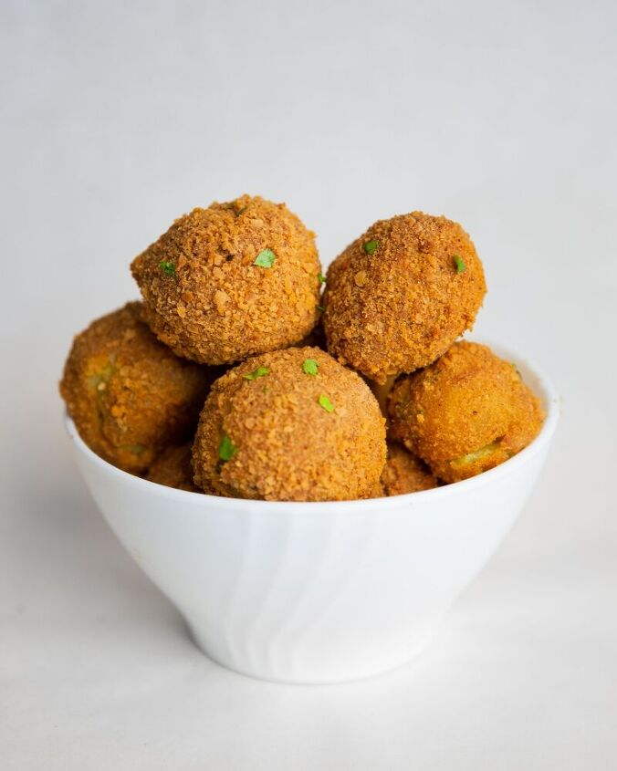 mashed potato balls crumbed oven baked