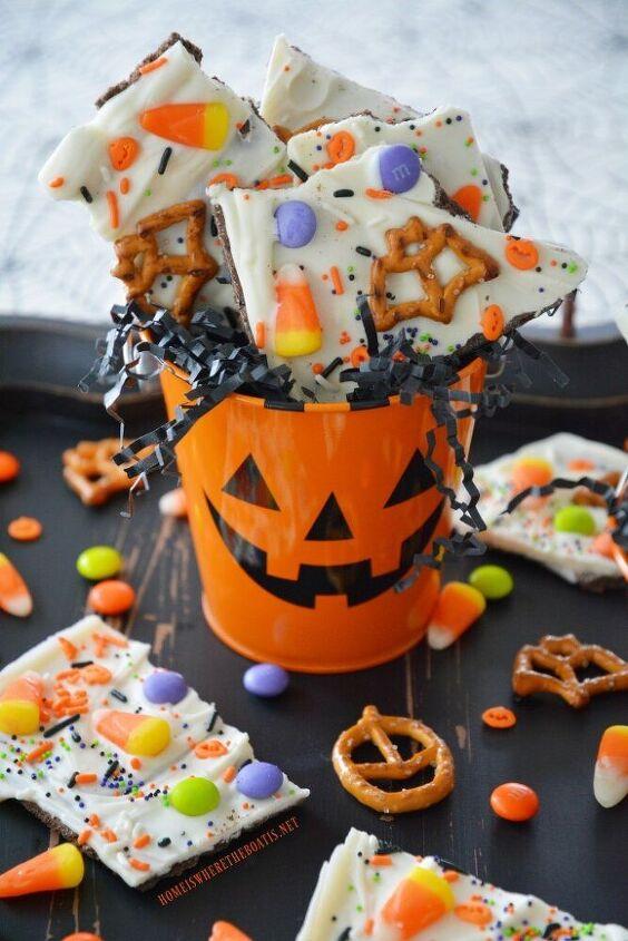 no bake halloween bark