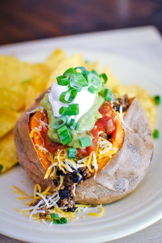taco stuffed baked sweet potatoes
