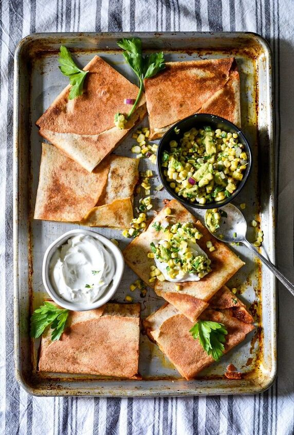 baked sheet pan quesadilla