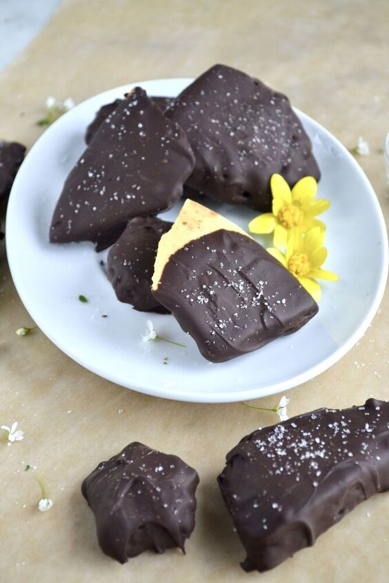 homemade dark chocolate sea foam candy