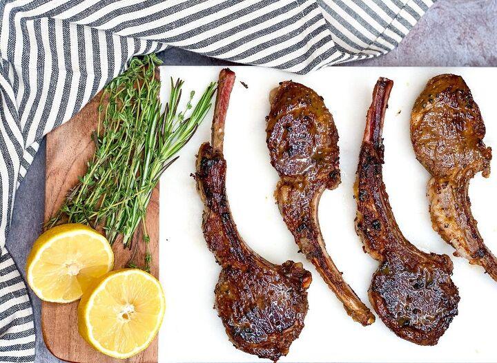 pan seared herb garlic lemon lamb lollipops