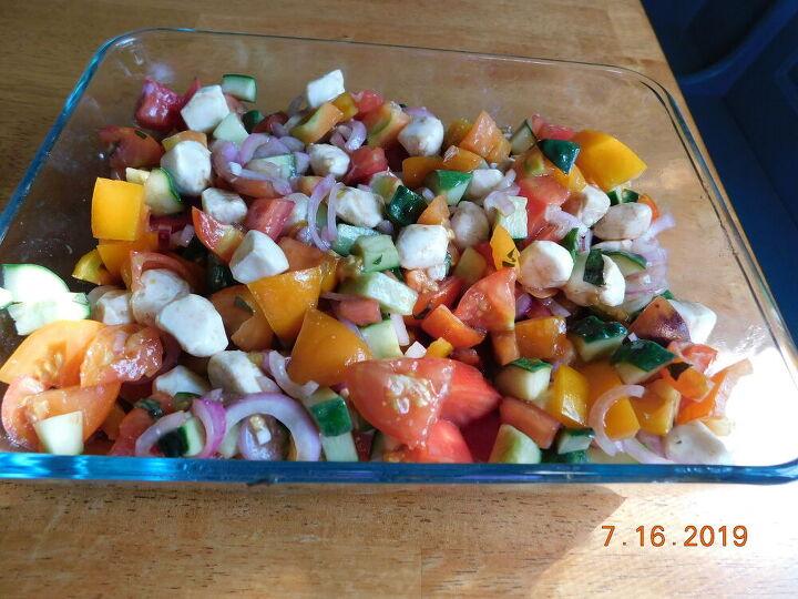 summer garden caprese salad