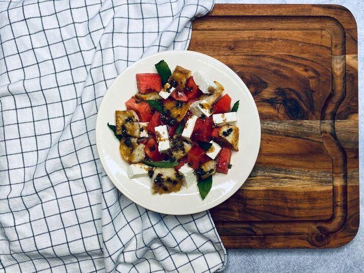 watermelon feta panzanella