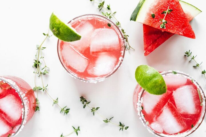 watermelon thyme gin cocktail