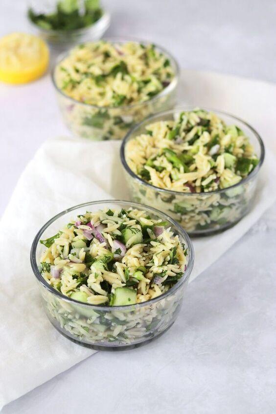 herbed lemon orzo salad