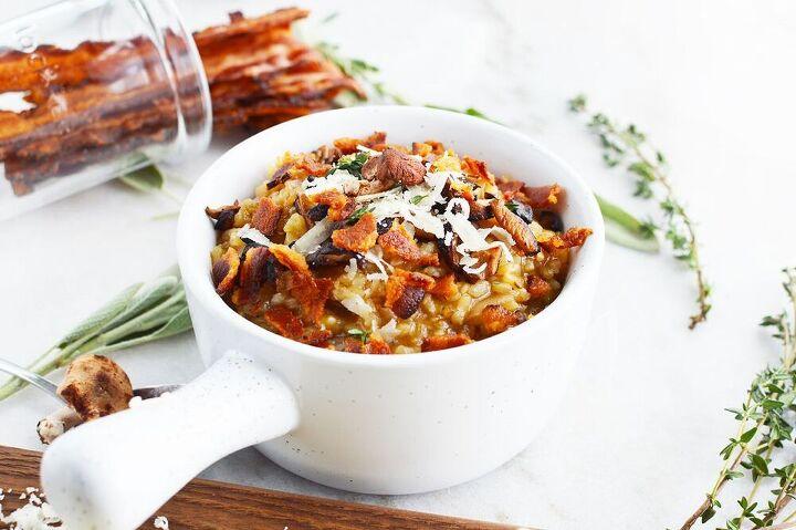 mushroom bacon risotto recipe a warming winter dinner idea