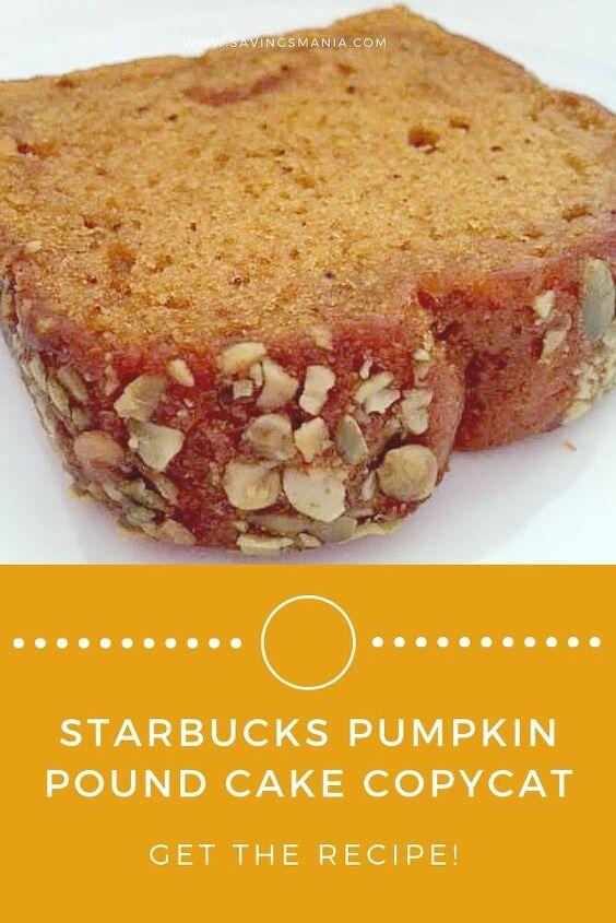 starbucks pumpkin pound cake recipe