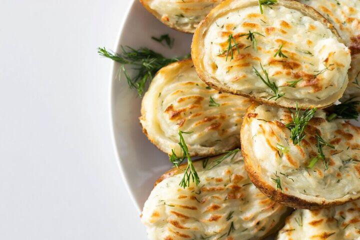 garlic dill feta twice baked potatoes