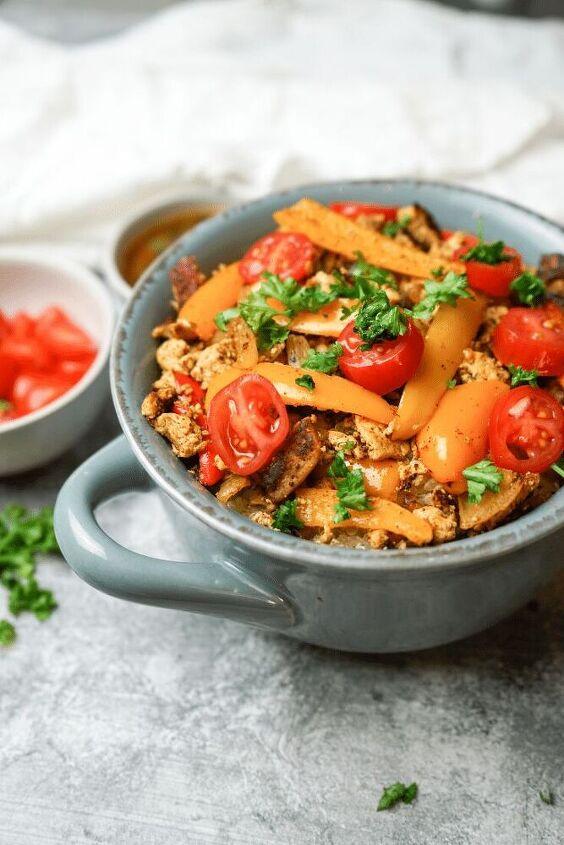 vegan tofu buddha bowl
