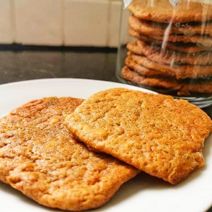 gooey peanut butter and banana cookies