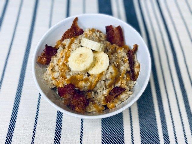peanut butter bacon banana oatmeal