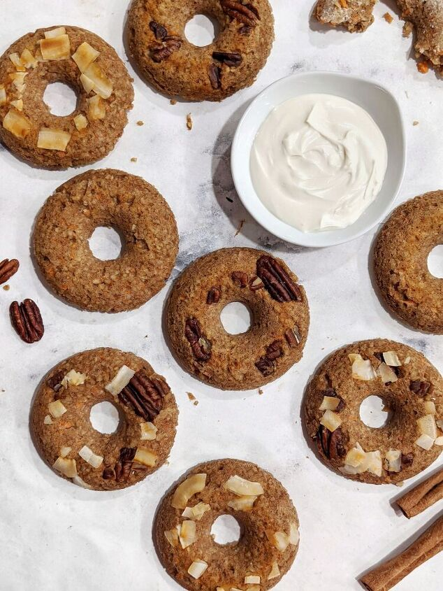 carrot cake oatmeal baked donuts gluten free