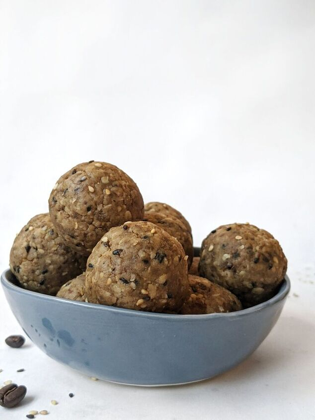 espresso tahini protein energy balls