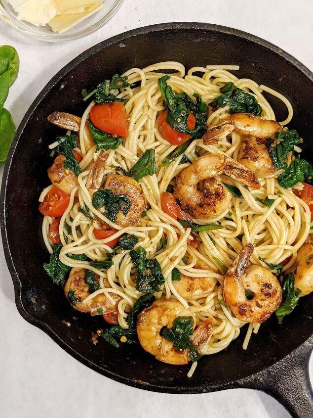 the best spinach tomato shrimp pasta