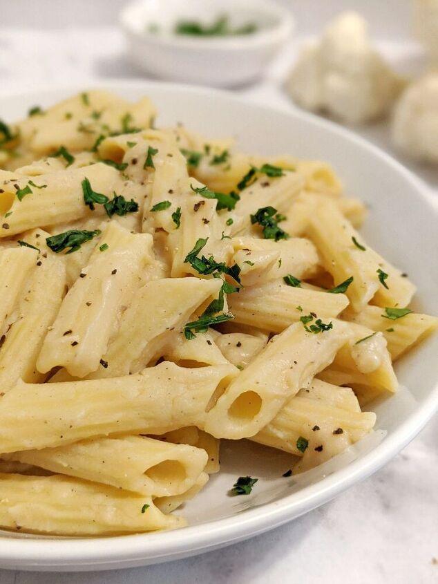 creamy dreamy cauliflower alfredo sauce vegan and nut free