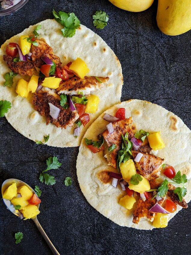 baked fish tacos with mango salsa paleo