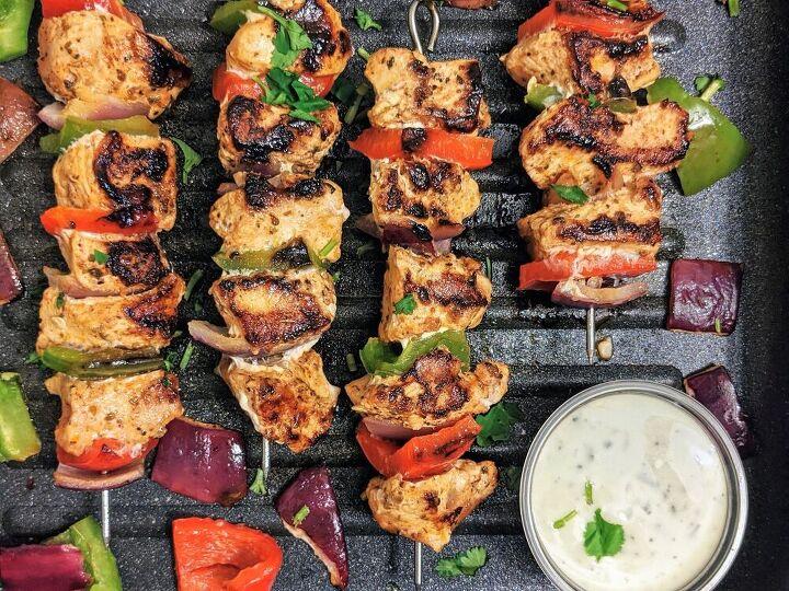 juicy grilled mediterranean chicken kebabs