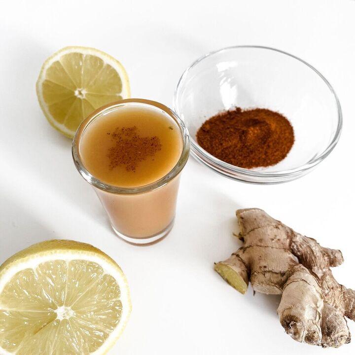 lemon ginger immunity shots
