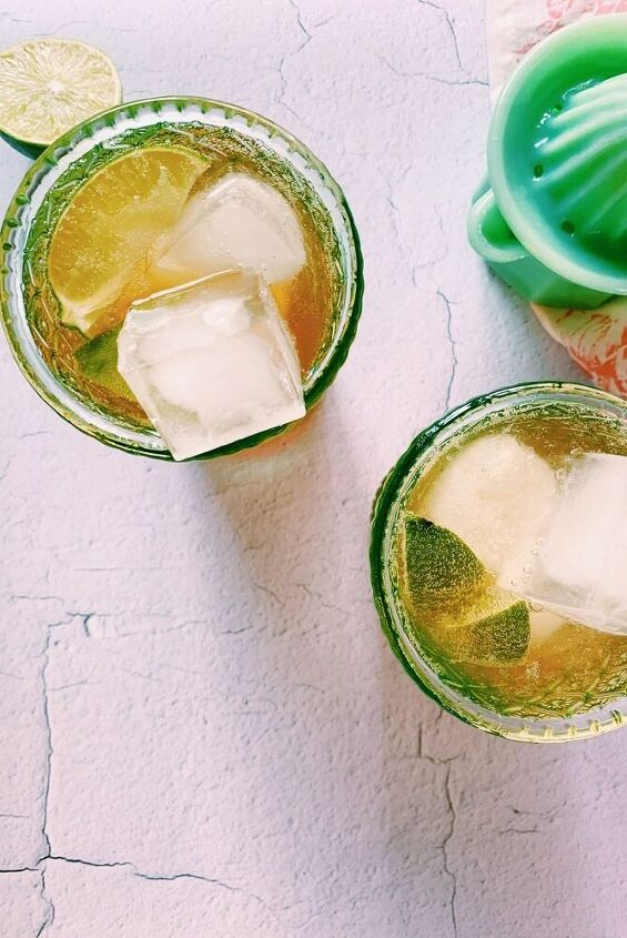 chai lime fizzy drink