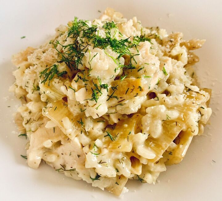 fennel dill risotto with chicken