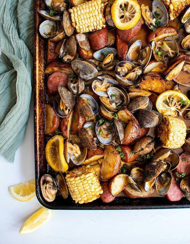 sheet pan clam bake