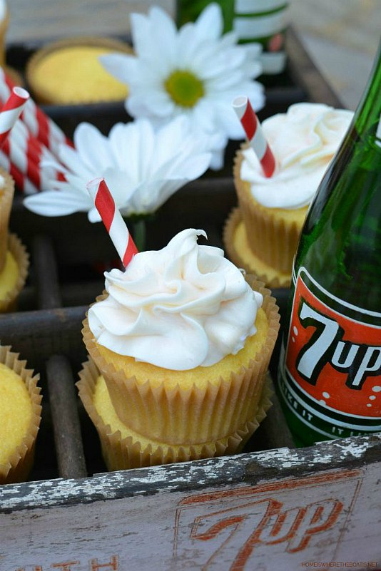 easy 2 ingredient 7 up cupcakes