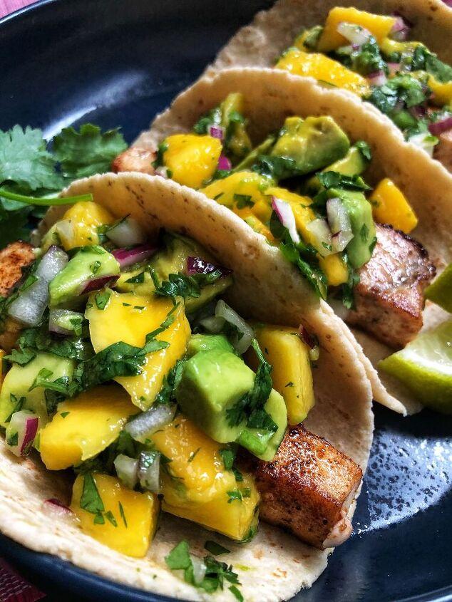 swordfish tacos with mango avocado salsa