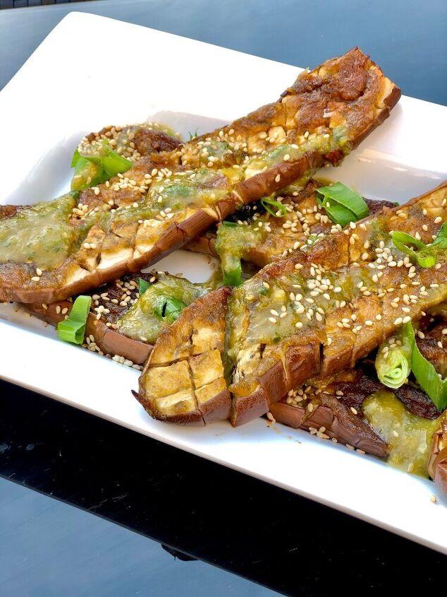 miso glazed eggplants