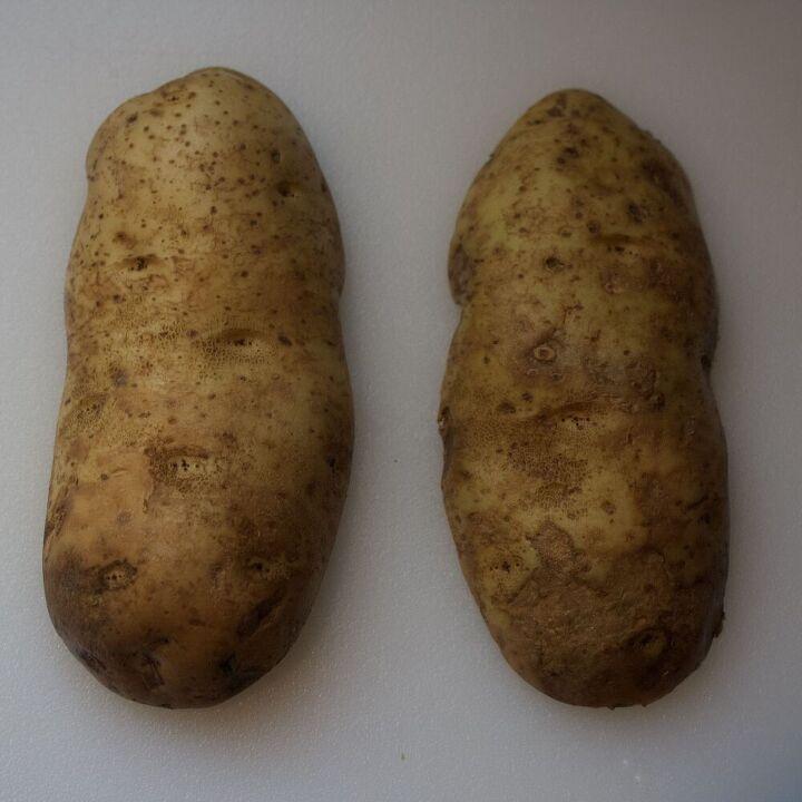 roasted potato wedges, Slice potato in half