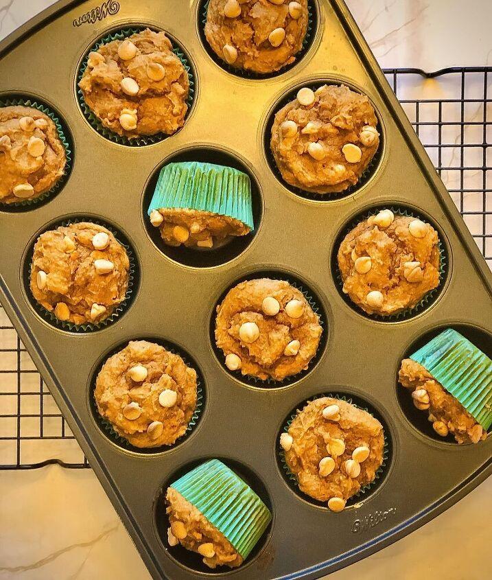 sweet potato peanut butter chip muffins