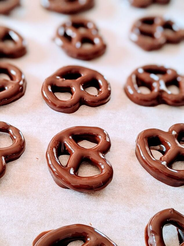 pretzel covered in chocolate