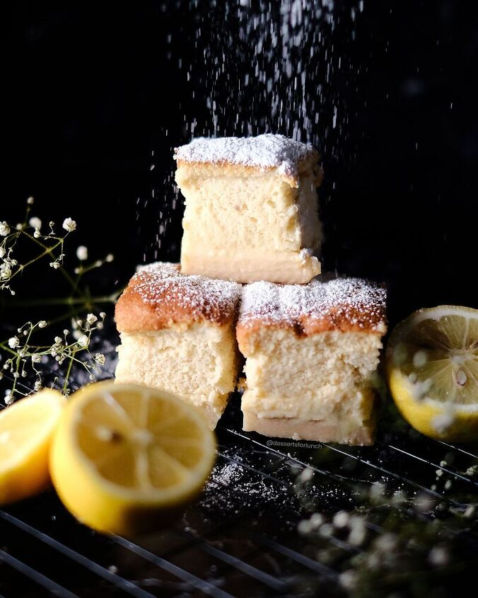 healthier magic lemon custard cake