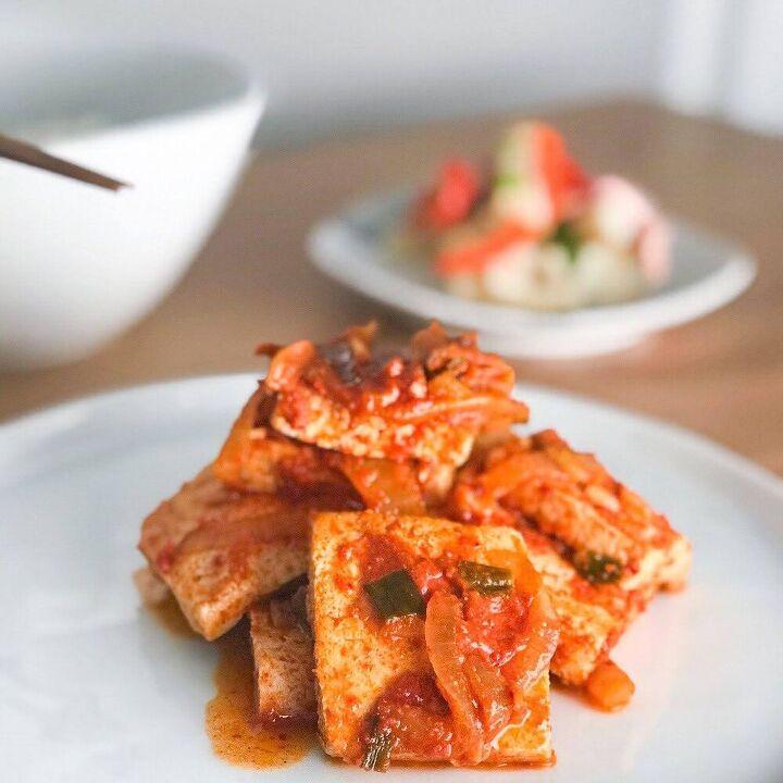 dubu jorim braised spicy tofu