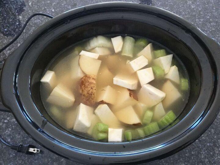 slow cooker autumn root soup