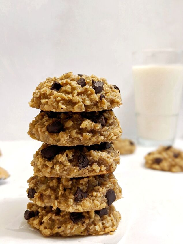 s 15 desserts that will make you go bananas, 3 Ingredient Banana Oat Cookies