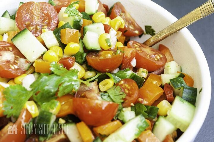 corn salad with a spicy lime vinaigrette