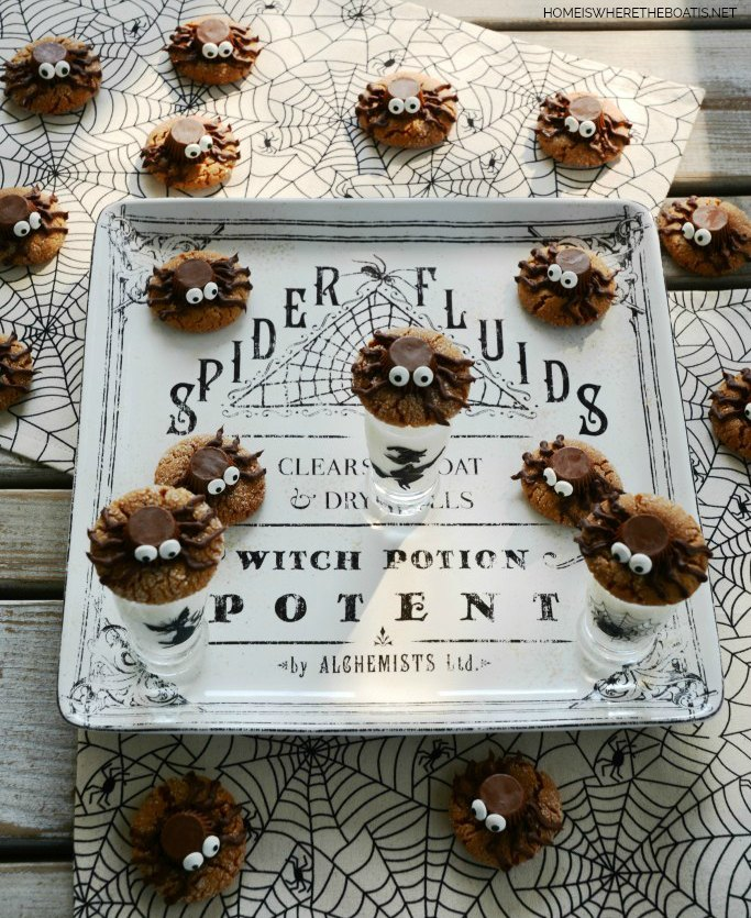 s 9 spooky foods that will star at your halloween party, Halloween Peanut Butter Spider Cookies