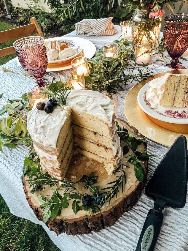 layered lemon raspberry cake