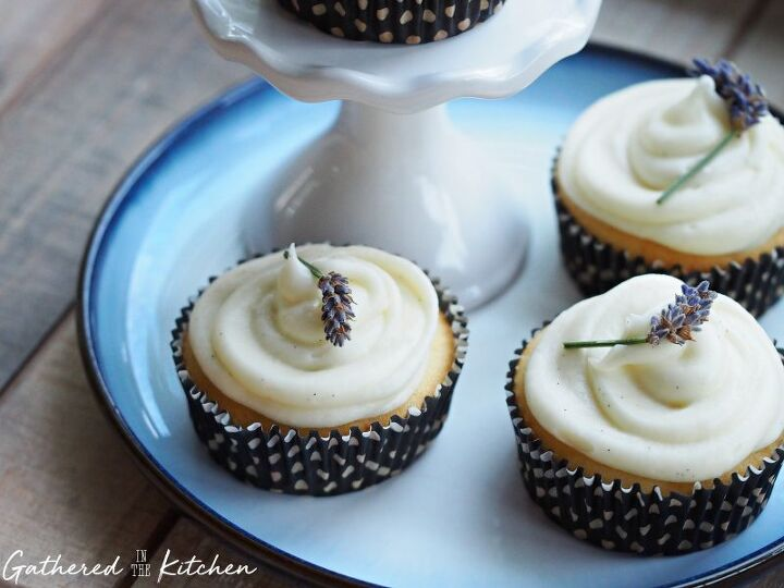 s 17 delightful cupcakes that will bring you joy, Lavender Cupcakes with Cream Cheese Frosting