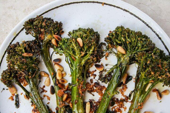 basil oil roasted broccolini