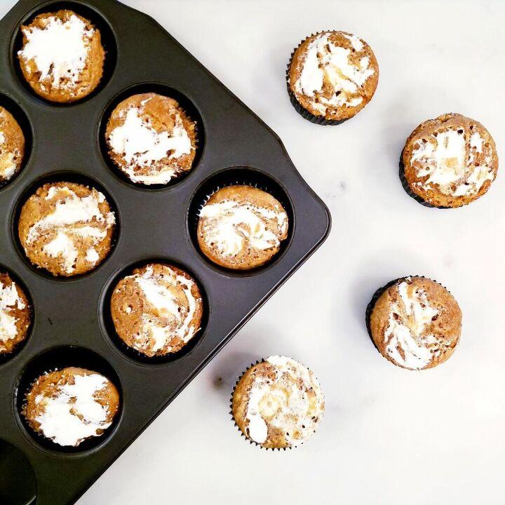 marshmallow swirl sweet potato muffins