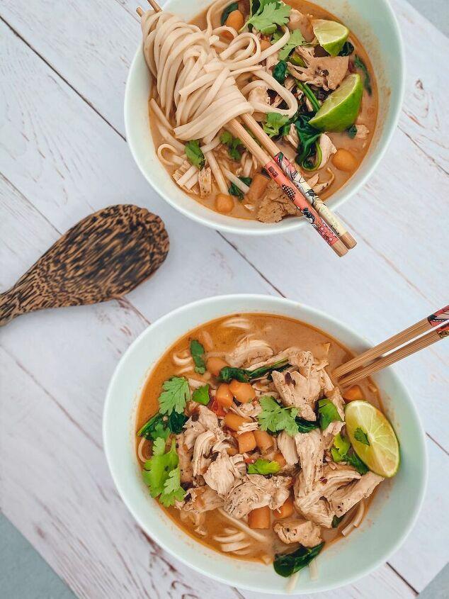 mexican thai chicken noodle soup