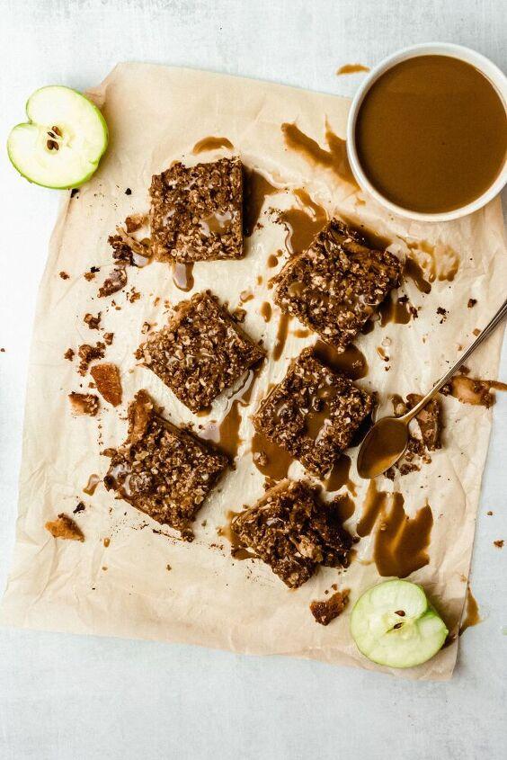 salted caramel apple pie bars gluten free refined sugar free