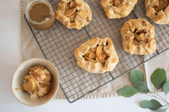 rustic mini apple galettes with cinnamon ice cream