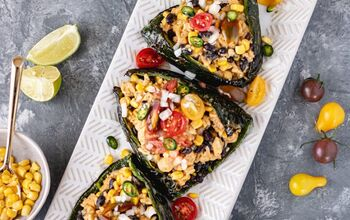 Easy Stuffed Poblano Peppers (DF)
