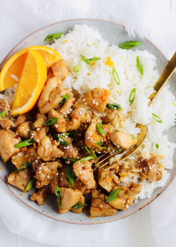 s 13 fresh chicken recipes that ll change up your dinner rotation, Healthy Orange Chicken